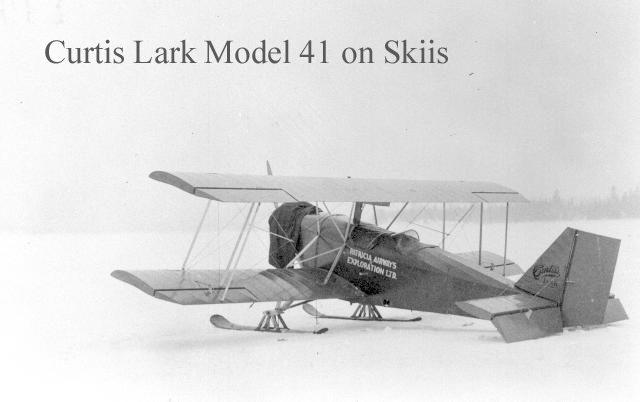 Flying the Curtiss lark in Winter